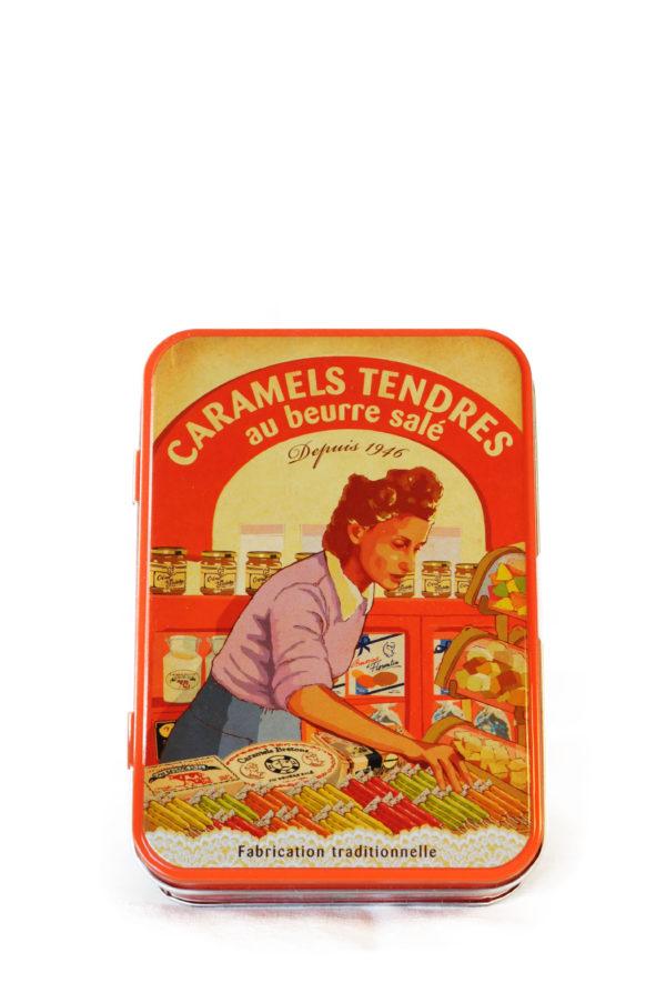 Bretonske Karameller i fin lille metakæske